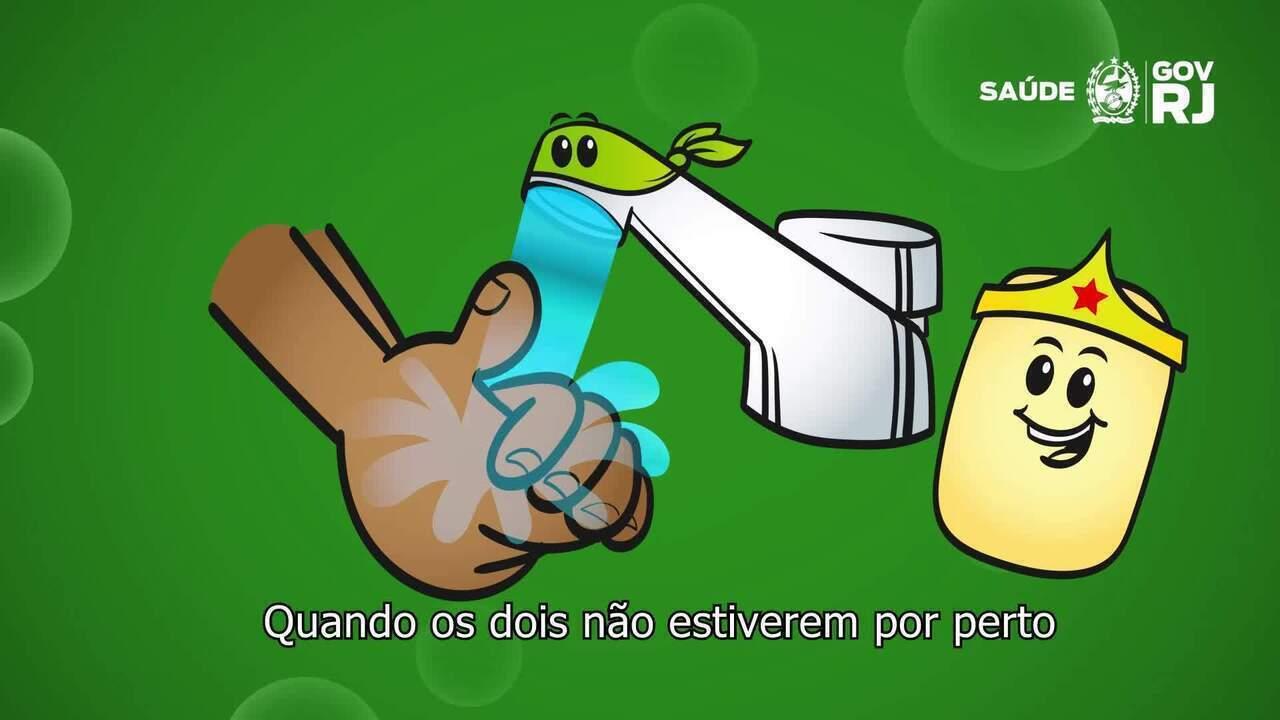 Governo do RJ lança 'Liga Anti-Coronavírus' para conscientizar crianças contra a pandemia