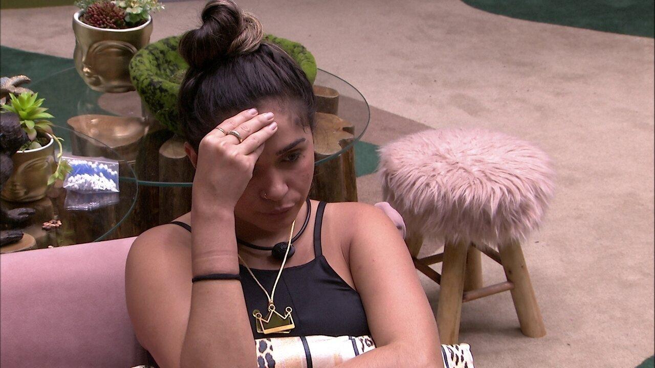 Gizelly repensa escolha do VIP: 'Não contamos antes as pulseiras'