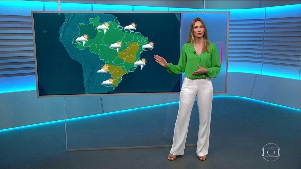 Veja a previsão do tempo para quarta-feira (1) no Brasil