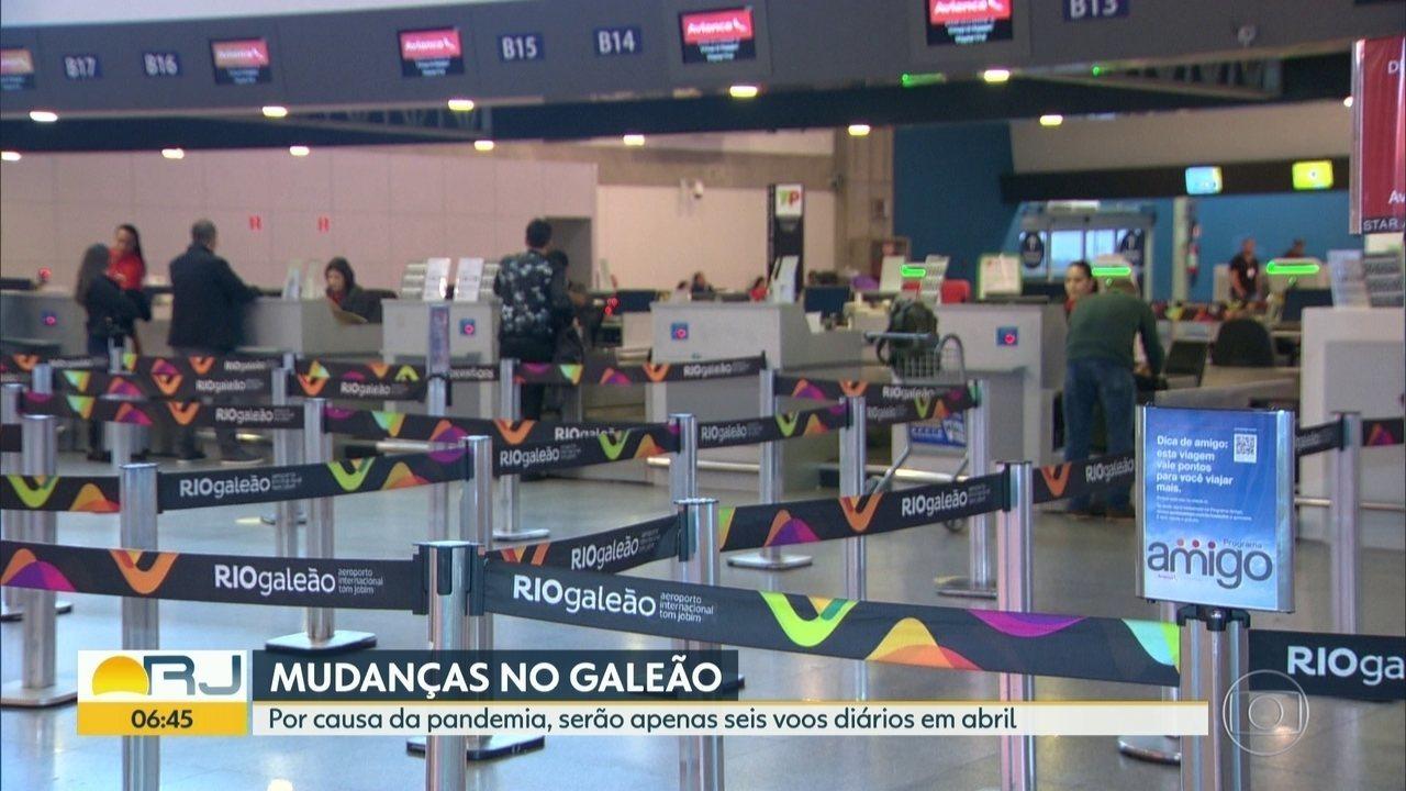 Pandemia reduz drasticamente voos em aeroportos