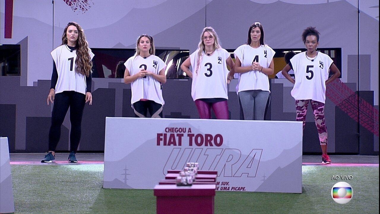 Rodada 1 da Prova do Líder Fiat do BBB20: Rafa, Gabi, Marcela, Ivy e Thelma