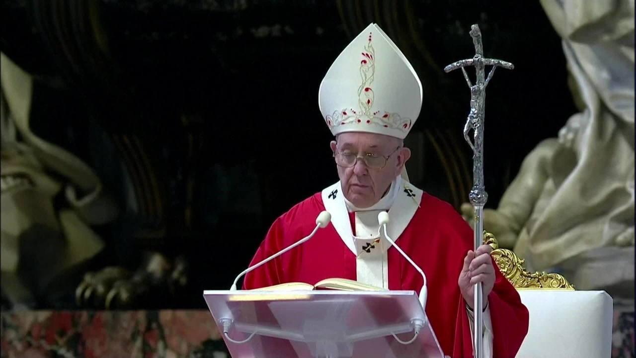 Domingo de Ramos: Papa Francisco celebra missa transmitida pela internet