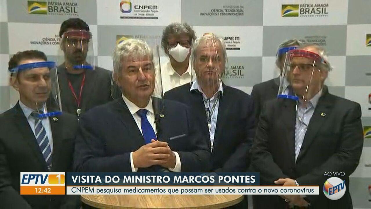 Ministro da Ciência e Tecnologia, Marcos Pontes, visita o CNPEM em Campinas