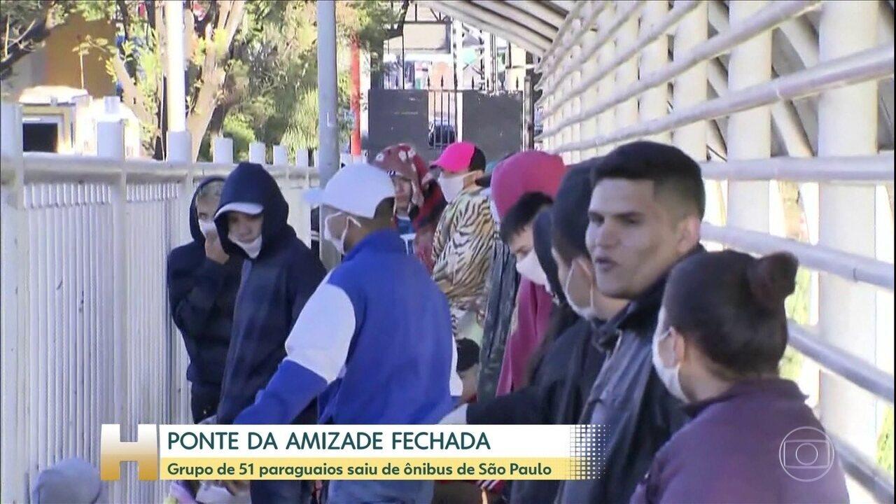 Grupo de 51 paraguaios não consegue deixar o Brasil pela Ponte da Amizade