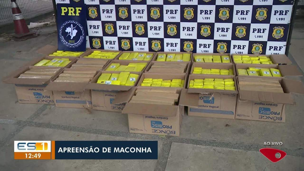 Polícia Rodoviária Federal faz apreensão de maconha, no Sul do ES