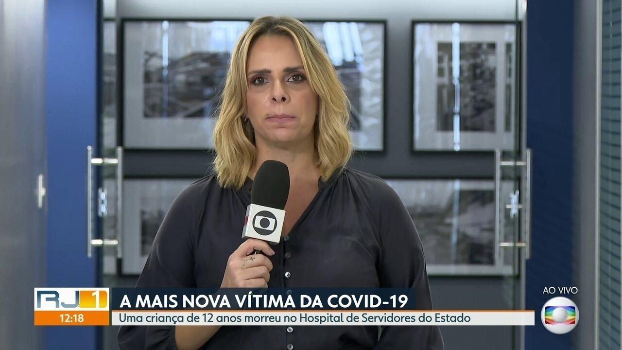 Criança de 12 anos diagnosticada com Covid-19 morre no Rio
