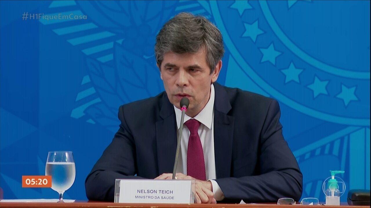 Ministro da Saúde fala em novas diretrizes para isolamento social