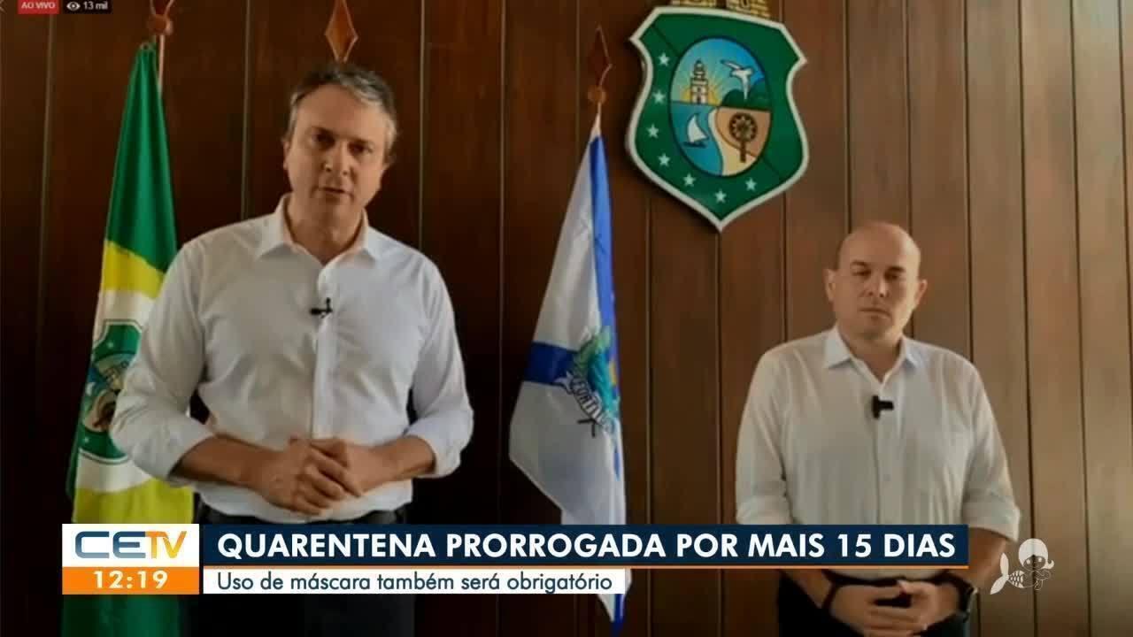 Ceará prorroga decreto de isolamento e adota medidas mais rígidas contra pandemia