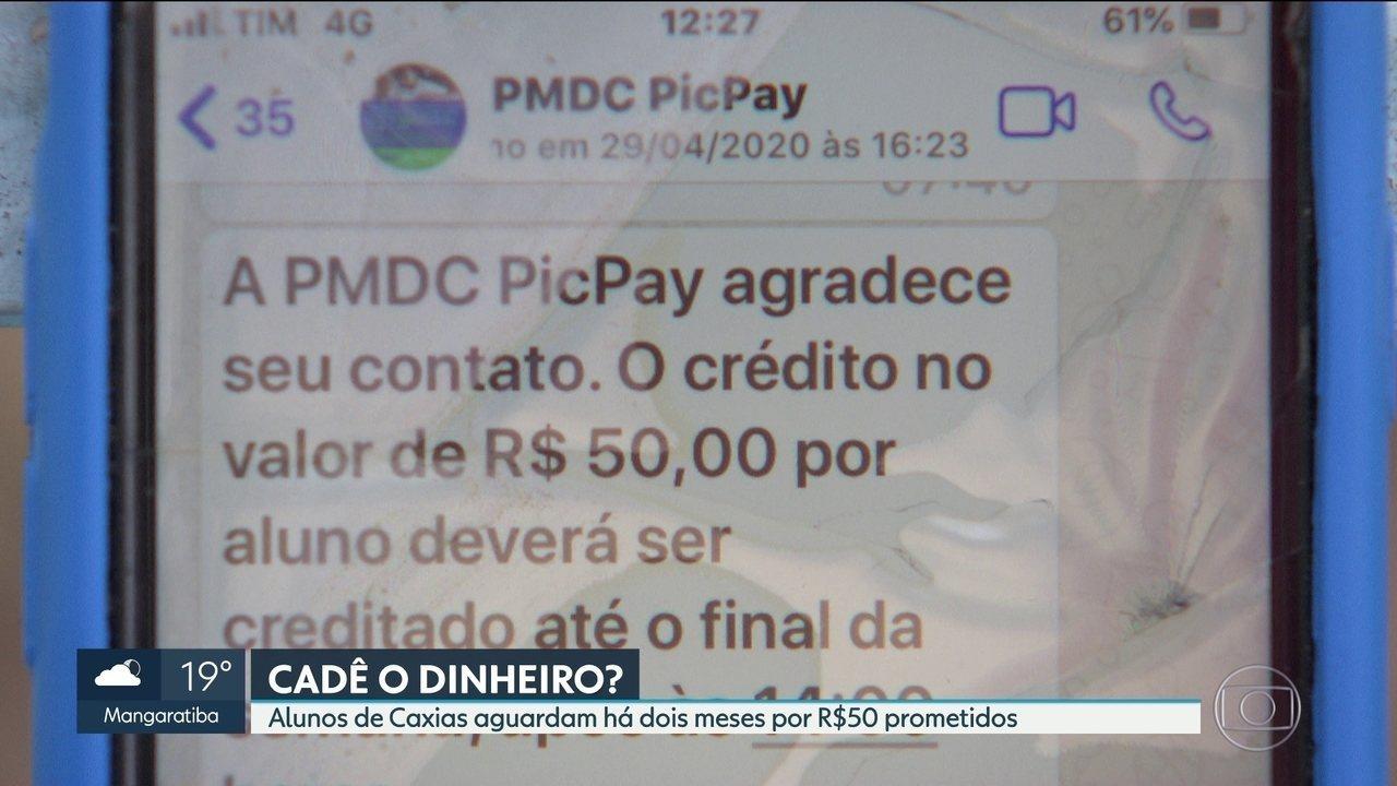Alunos de Caxias aguardam há mais de dois meses por ajuda prometida pela prefeitura