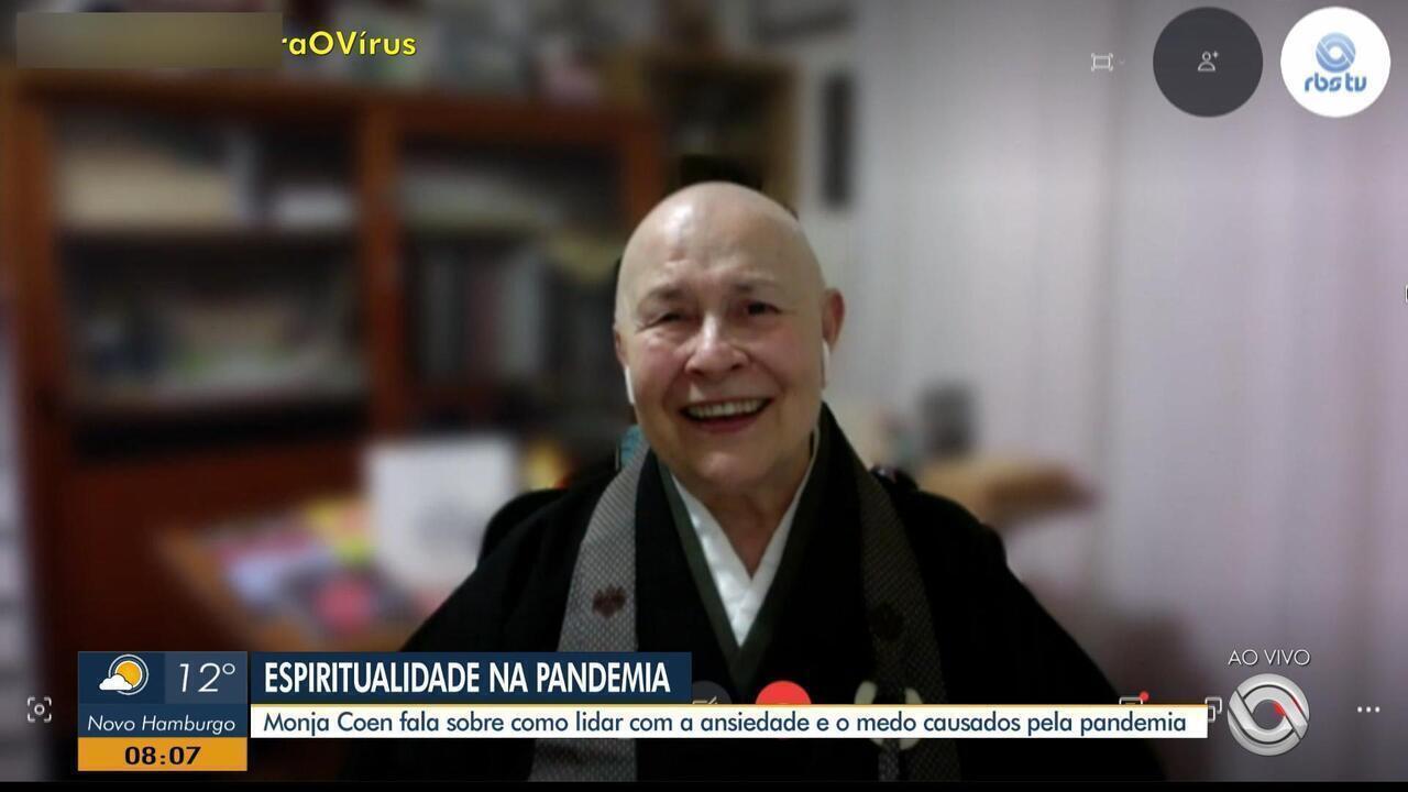 Monja Coen fala como lidar com a ansiedade provocada pela pandemia de coronavírus