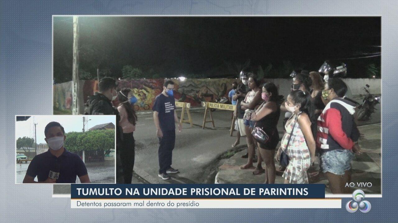 Tumulto é registrado em unidade prisional de Parintins após presos passarem mal