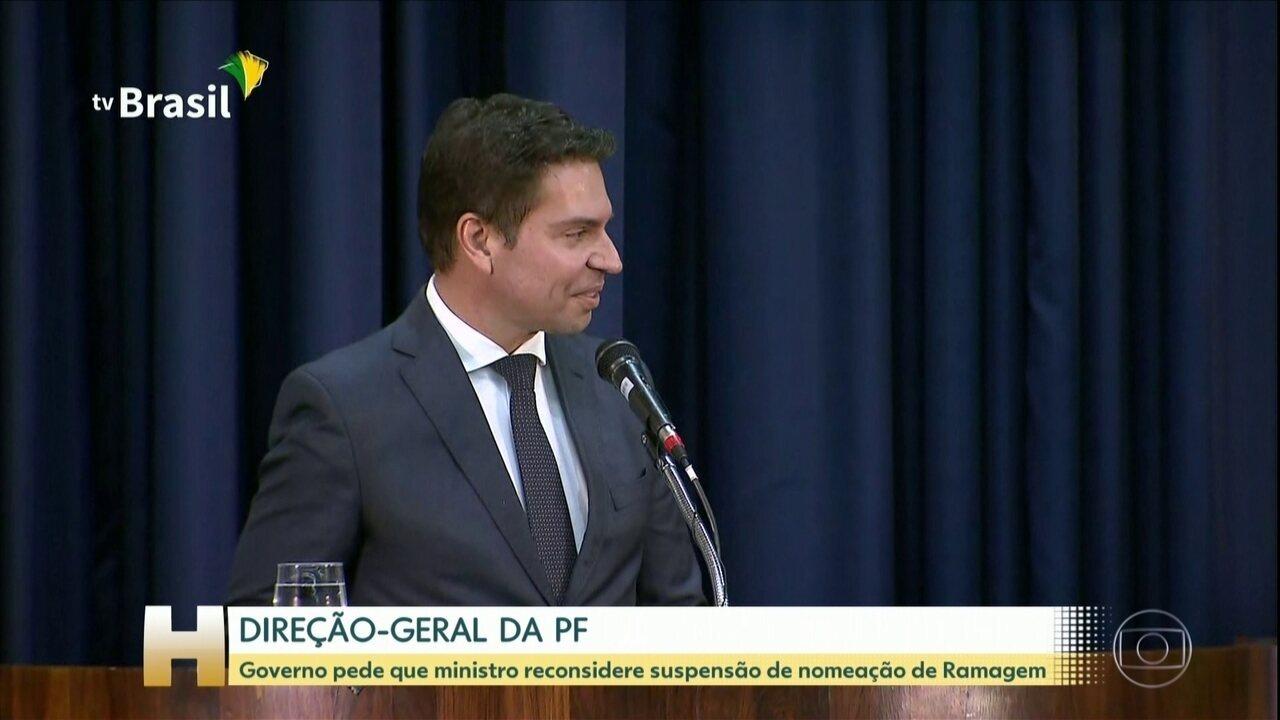 Governo pede que Moraes, do STF, reconsidere suspensão de nomeação de Ramagem para PF