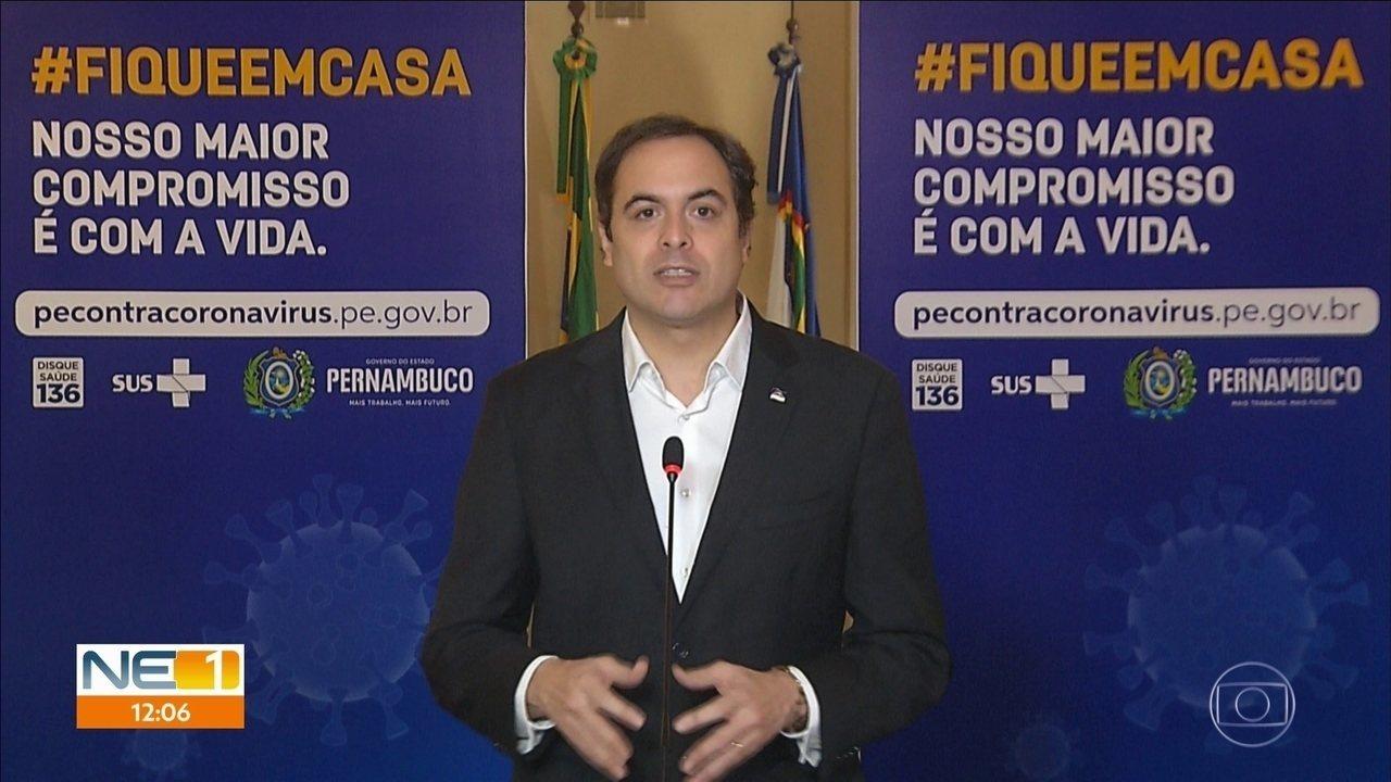 Governo de Pernambuco adota medidas mais rigorosas para manter o isolamento social
