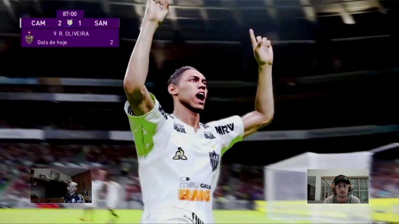 Melhores momentos: Atlético-MG (Guga) 2 x 1 (Soteldo) Santos pelo Futebol de Casa