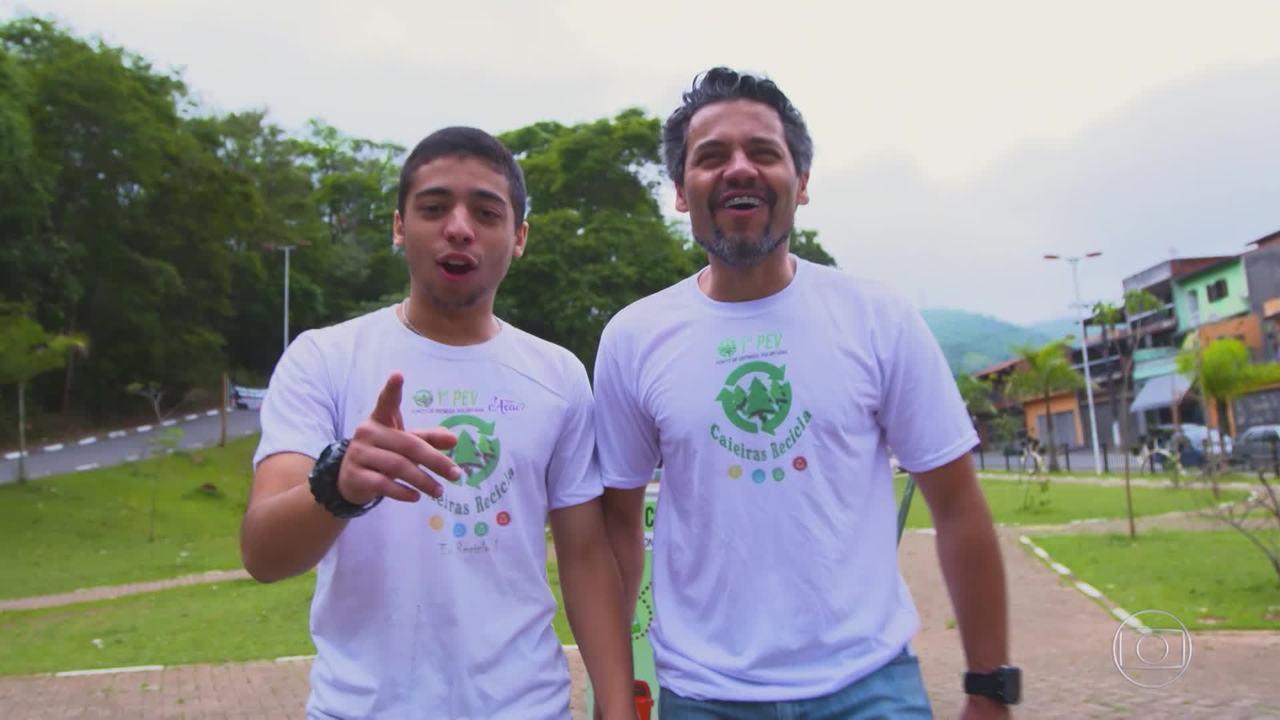 Caio e Denis vão ao 'The Wall' para financiar projeto de reciclagem
