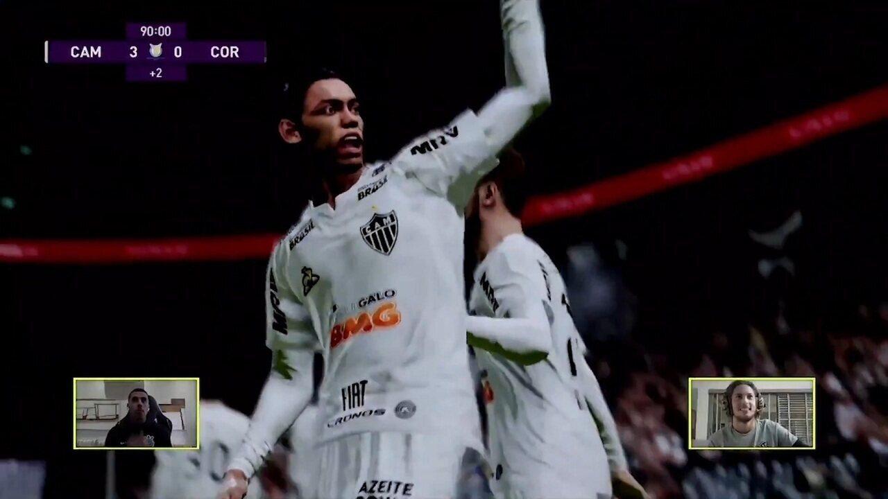 Melhores momentos: Atlético-MG (Guga) 3 x 0 (Gabriel) Corinthians pelo Futebol de Casa