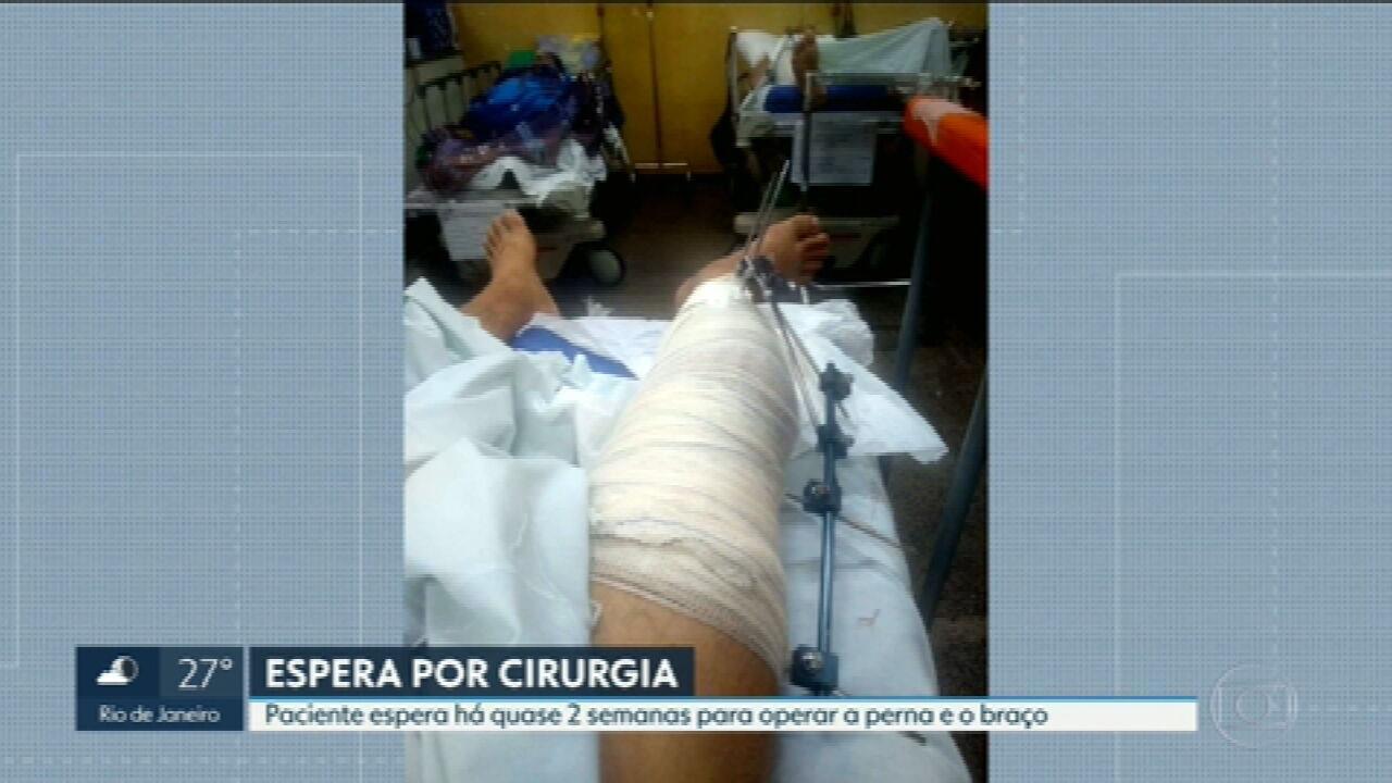 Paciente espera há quase 2 semanas para cirurgias