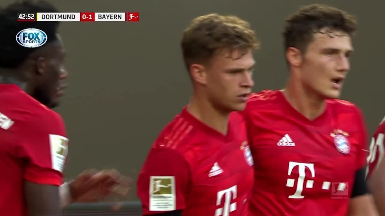 O gol de Borussia Dortmund 0 x 1 Bayern de Munique pelo Campeonato Alemão