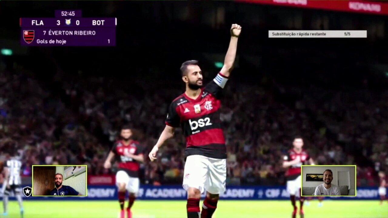Melhores momentos: Flamengo (Éverton Ribeiro) 3 x 0 (Caio Alexandre) Botafogo pelo Futebol de Casa