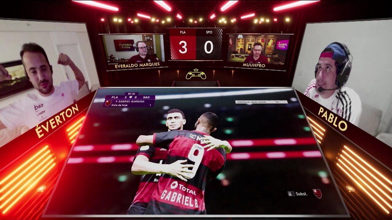 Melhores momentos: Flamengo (Éverton Ribeiro) 3 x 0 (Pablo) São Paulo pela semifinal do Futebol de Casa