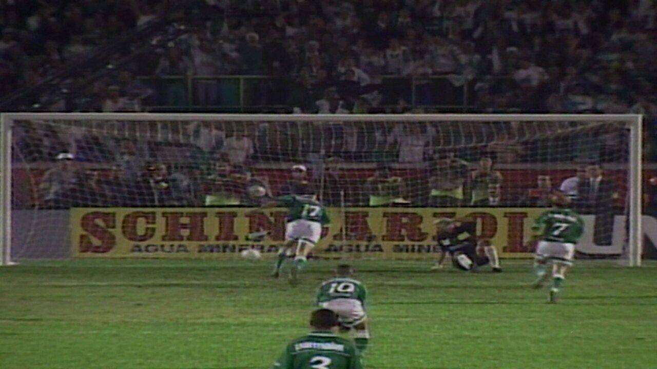 Melhores momentos de Palmeiras 2 (4) x (3) 1 Deportivo Cali pela final da Taça Libertadores de 1999