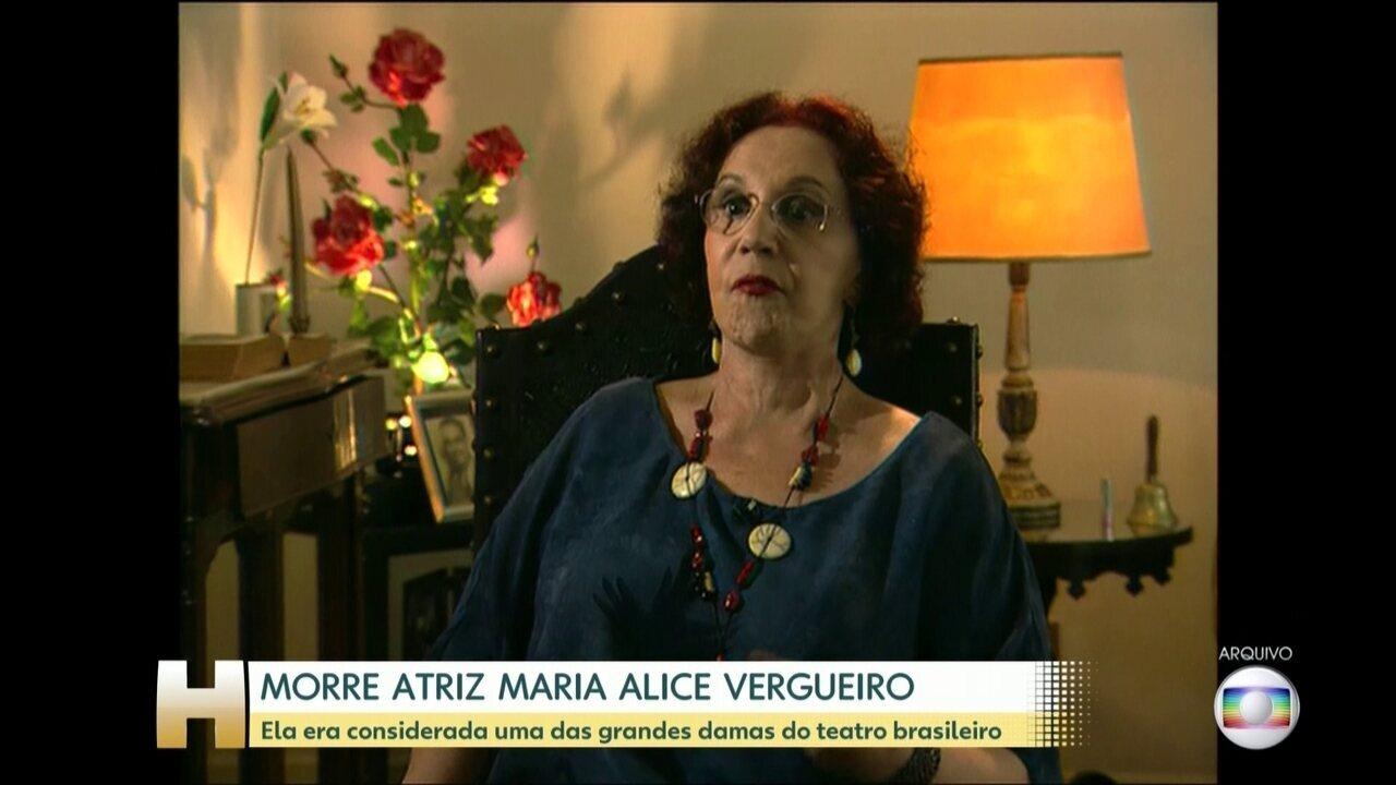 Morre aos 85 anos a atriz e diretora de teatro Maria Alice Vergueiro