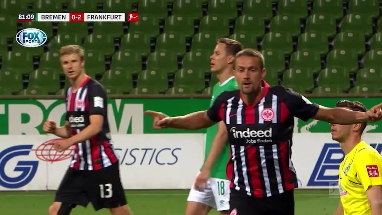 Os gols de Werder Bremen 0 x 3 Eintracht Frankfurt pelo Campeonato Alemão