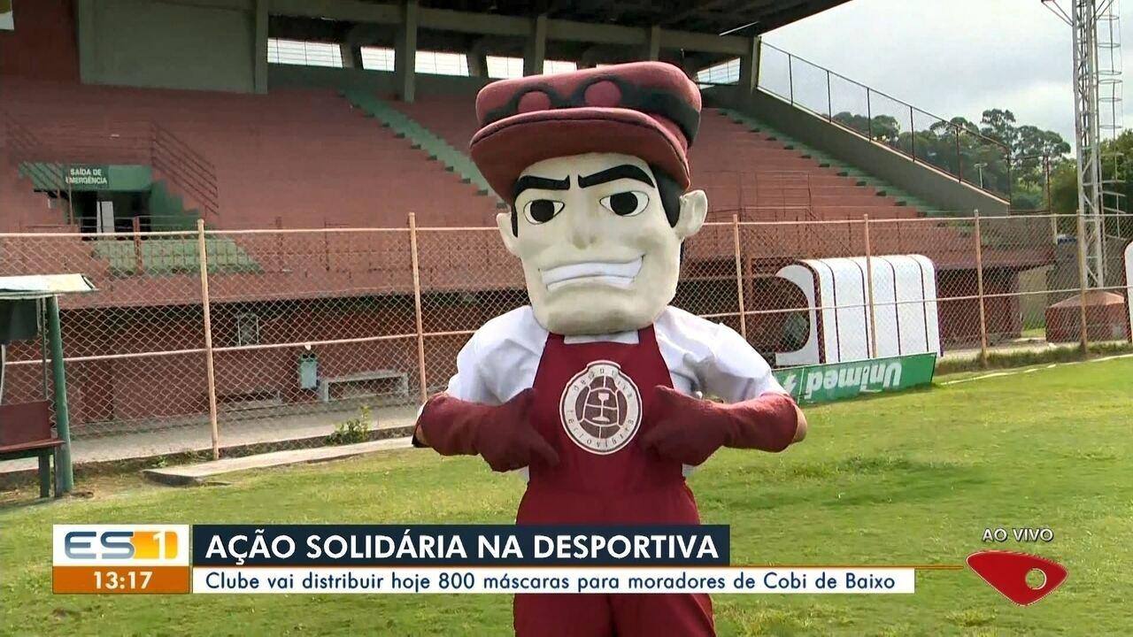 Desportiva Ferroviária distribui 800 máscaras para moradores do bairro Cobi de Baixo