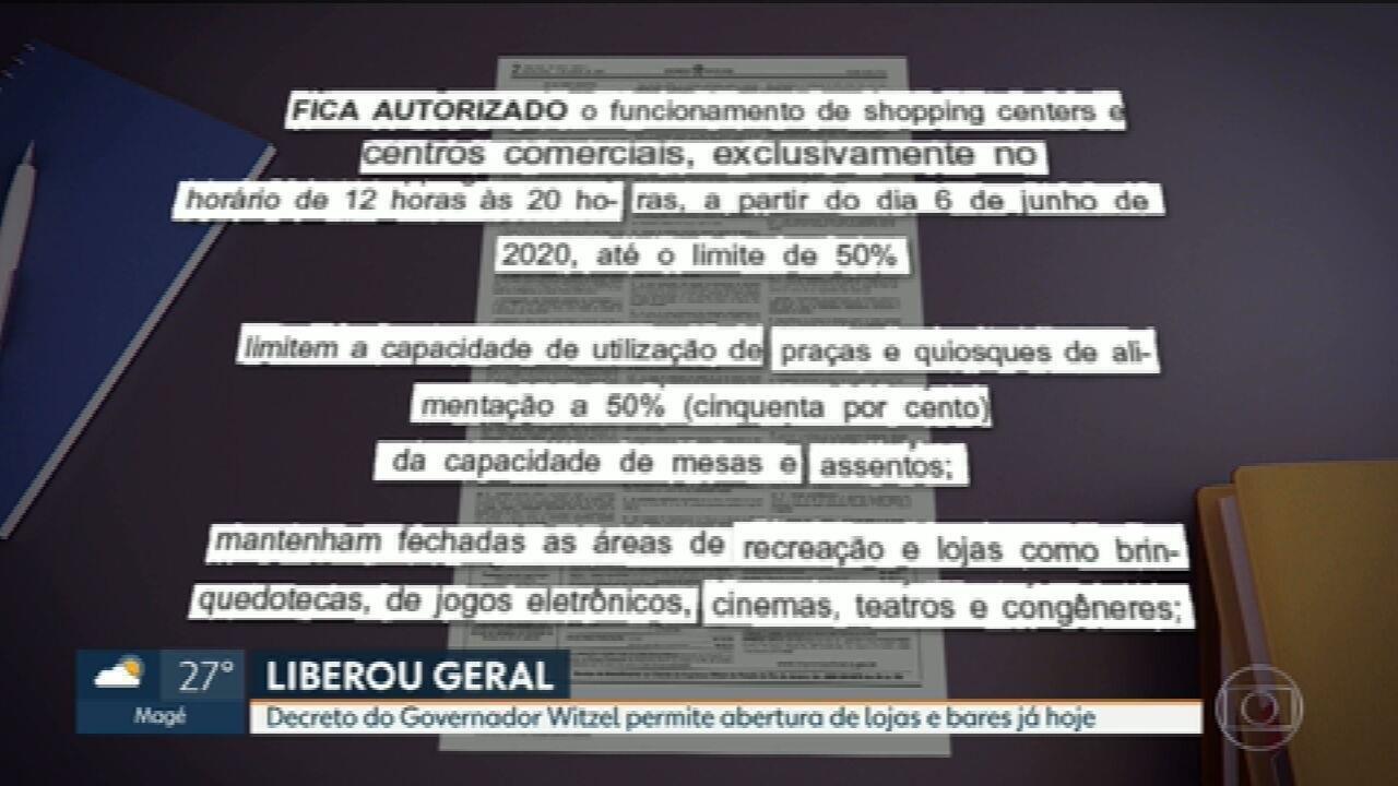 Governo do RJ libera reabertura de comércio com restrições