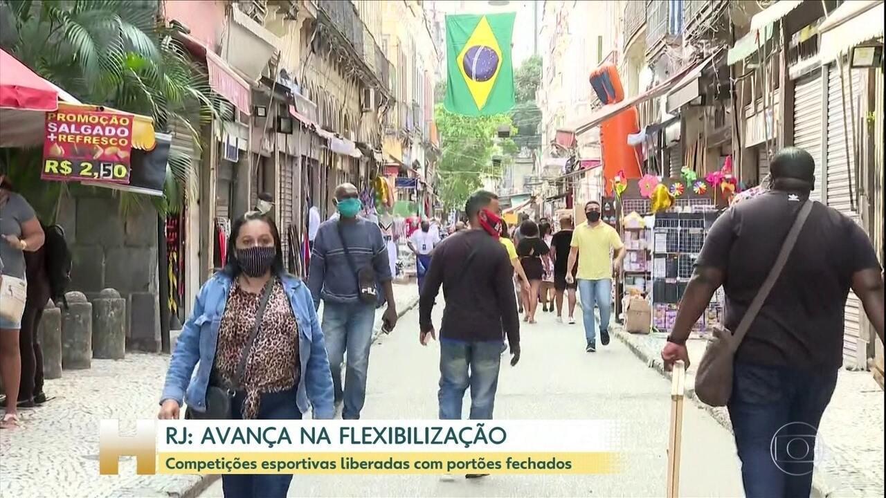 Segunda fase da flexibilização no Rio marca retorno de competições esportivas sem público