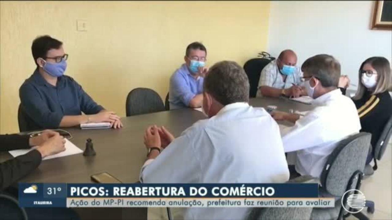 Prefeitura de Picos avalia pedido de fechamento do comércio e anuncia medidas mais rígidas