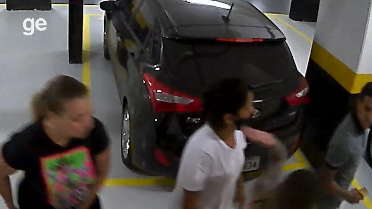 Novas imagens das câmeras de segurança mostram desentendimento entre Dudu e a esposa