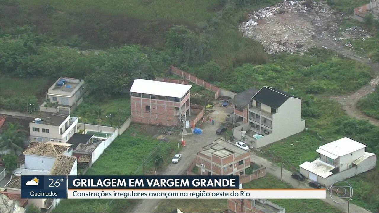 Flagrante mostra construções irregulares em Vargem Grande, na zona oeste do Rio