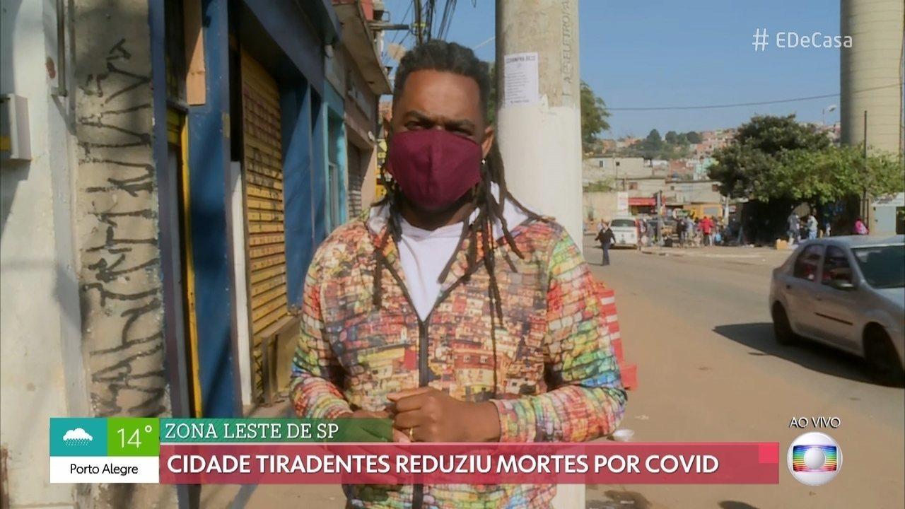 Cidade Tiradentes reduziu mortes por COVID