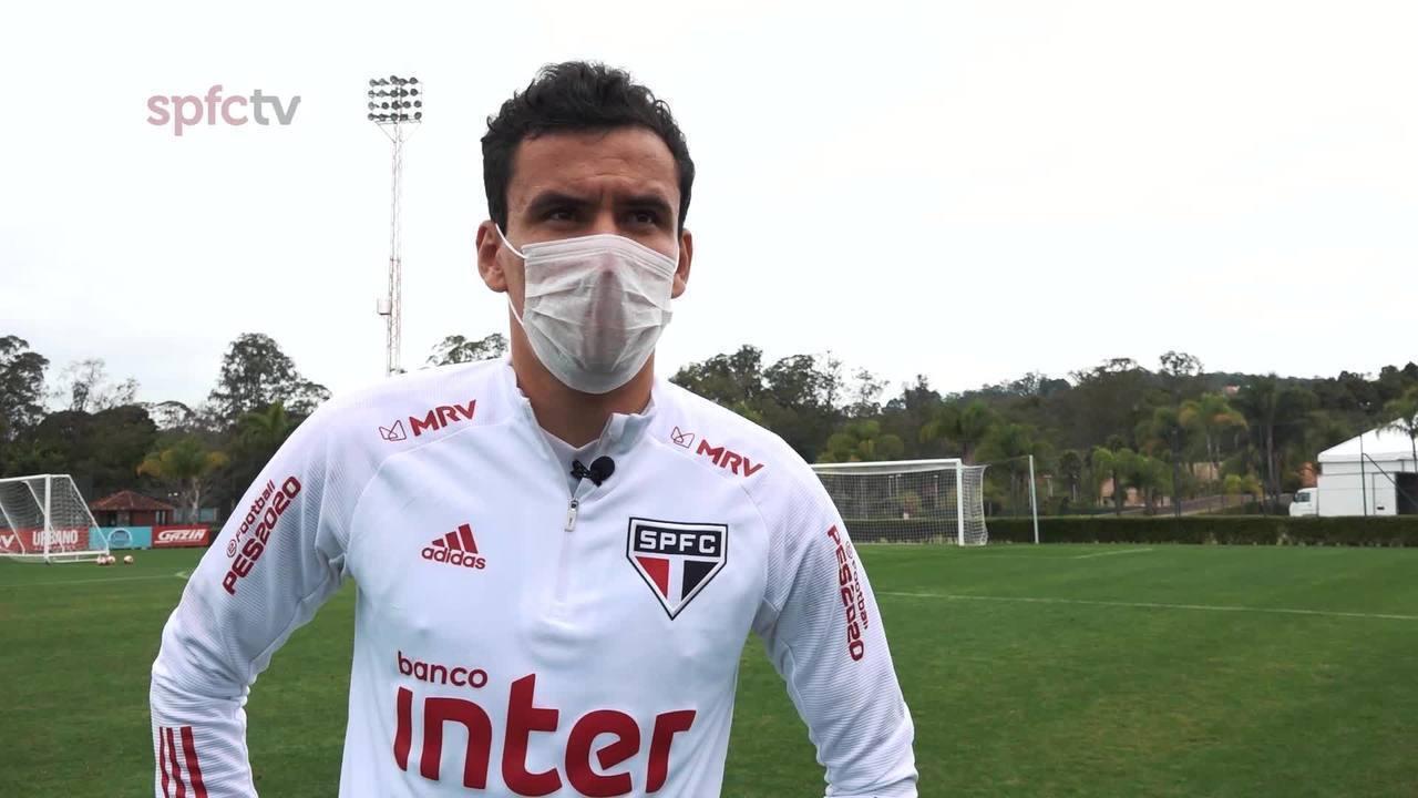 Pablo, do São Paulo, diz ser difícil substituir Antony, mas afirma estar pronto para jogar na ponta