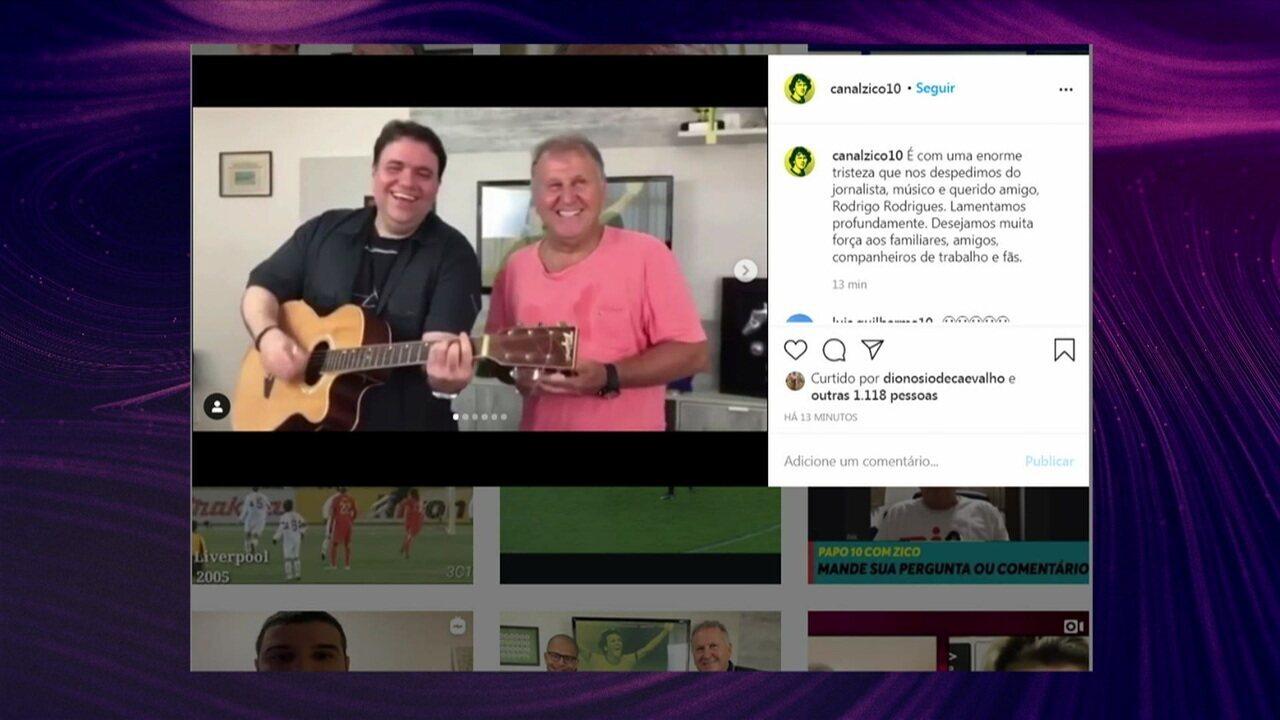Canal oficial do Zico faz homenagem para Rodrigo Rodrigues