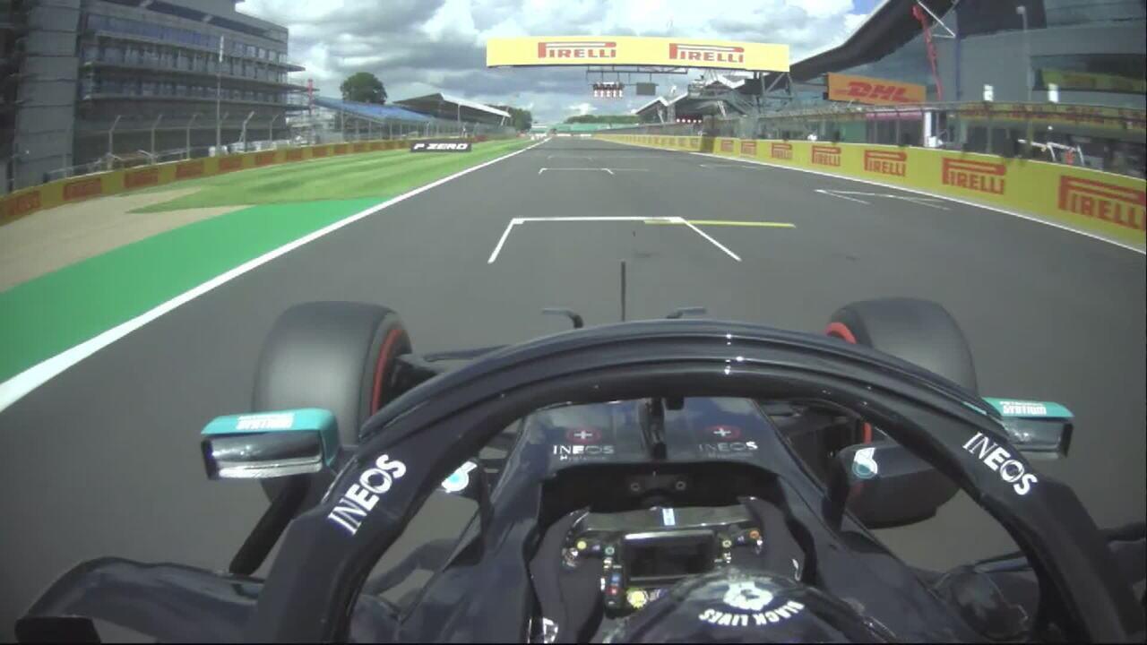 Onboard: a pole de Lewis Hamilton no GP da Inglaterra