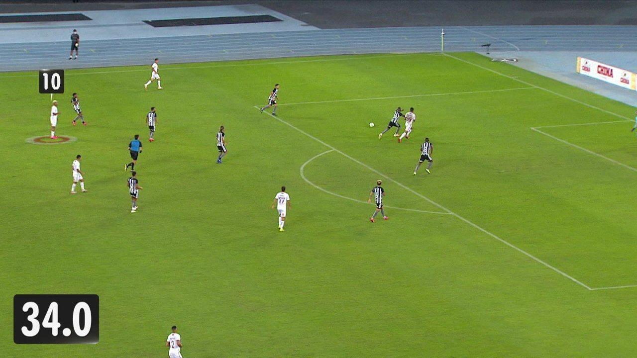10 passes e 35 segundos: veja detalhes do gol do Fluminense sobre Botafogo