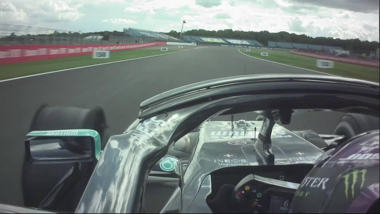 Onboard: a última volta de Lewis Hamilton no GP da Inglaterra