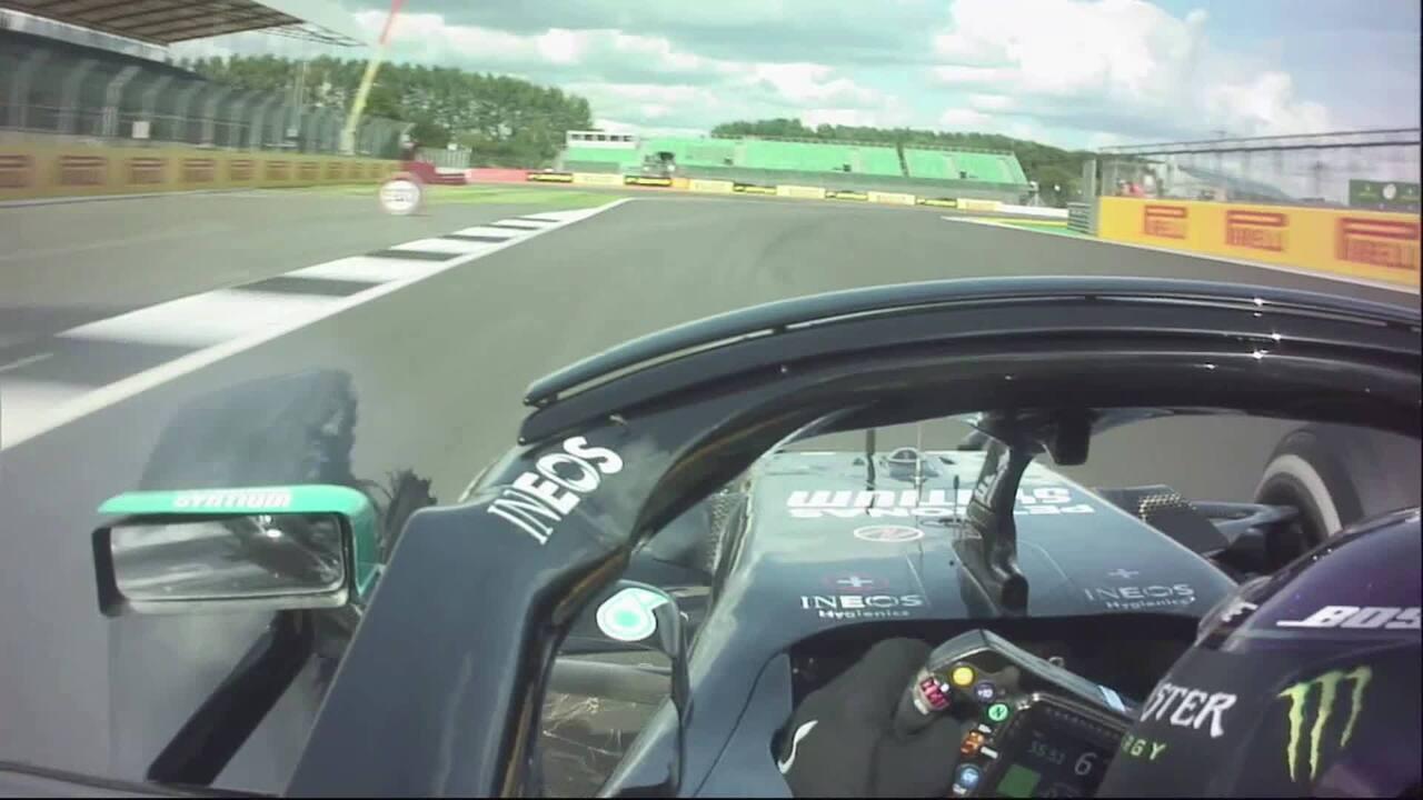 Pelo rádio: a última volta de Lewis Hamilton no GP da Inglaterra