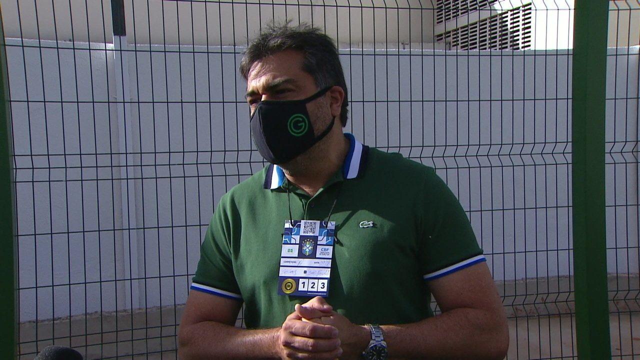"""Presidente do Goiás sobre equipe não entrar em campo: """"Agimos com coerência"""""""