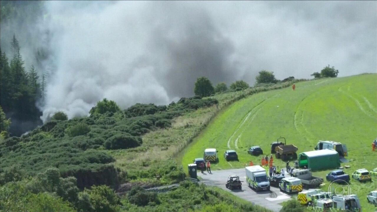Trem descarrila na Escócia e deixa feridos com gravidade