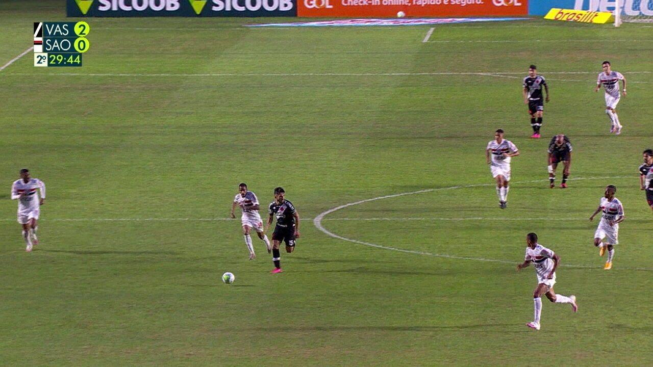 Melhores momentos de Vasco 2 x 1 São Paulo pela 3ª rodada do Brasileirão 2020