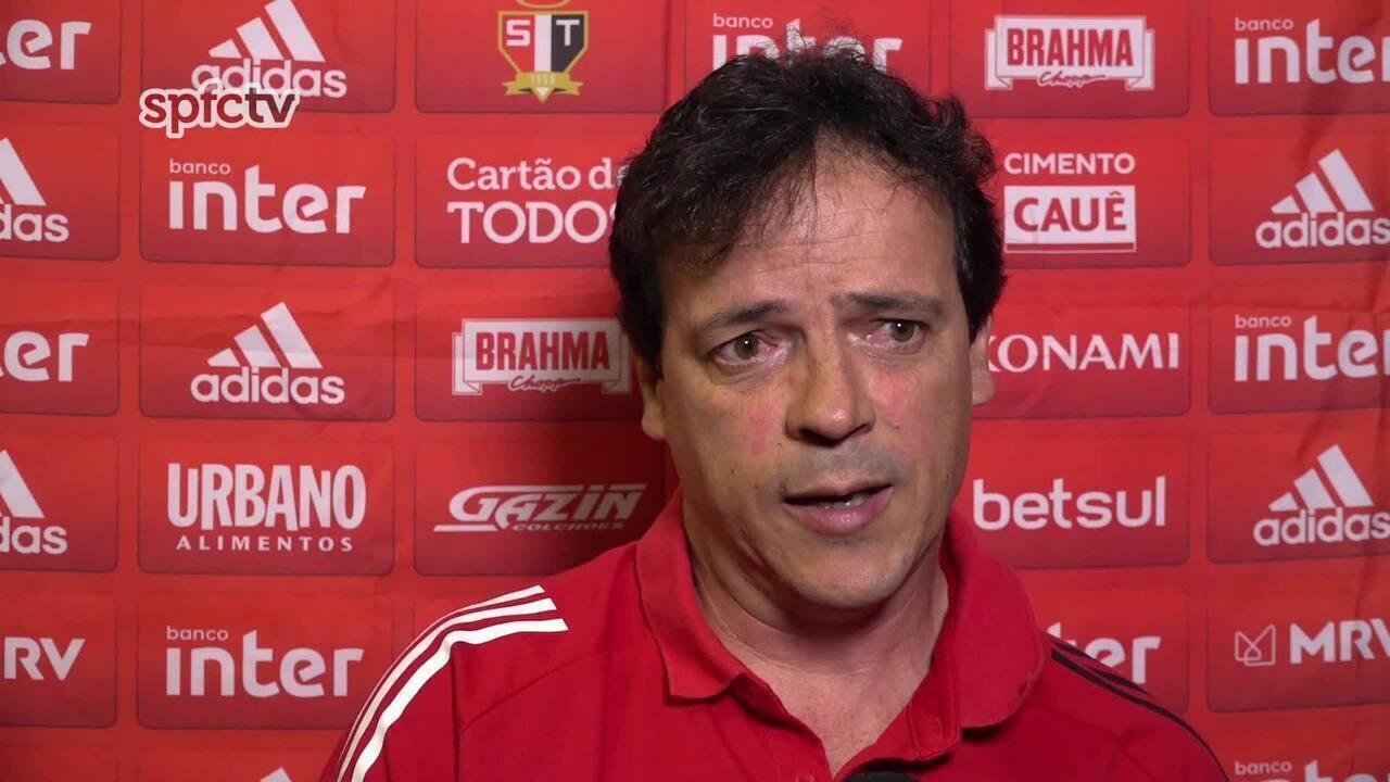Confira a coletiva de Fernando Diniz, técnico do São Paulo, após a derrota para o Vasco