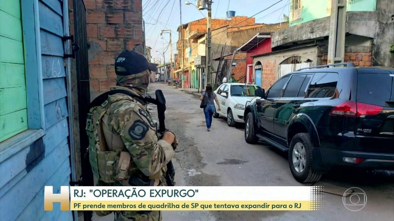 Polícia Federal faz operação para frear avanço de quadrilha de SP no RJ