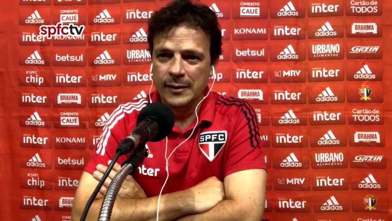 Confira a coletiva de Fernando Diniz após a derrota do São Paulo para o Atlético-MG