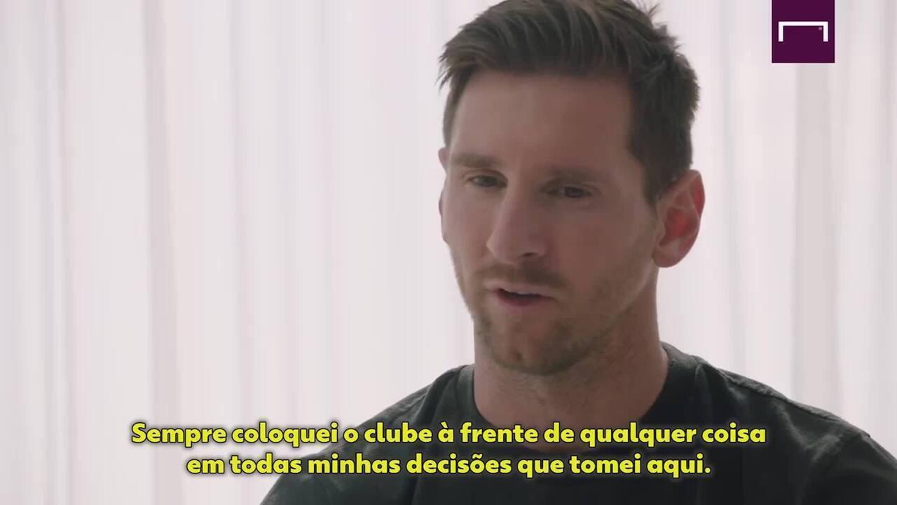 """Em entrevista ao """"Goal"""" da Espanha, Messi anuncia que fica Barcelona, mas critica presidente: """"Não cumpriu sua palavra"""""""