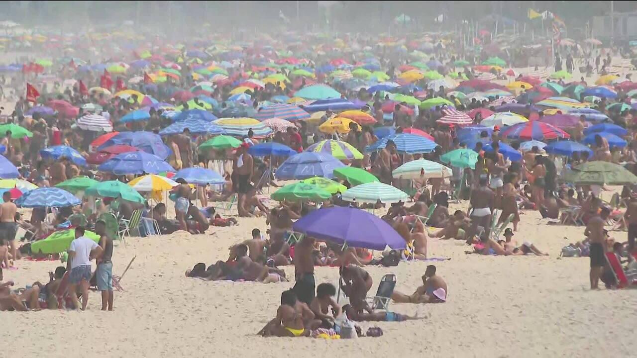Praias do Rio ficam lotadas no feriado de Sete de Setembro