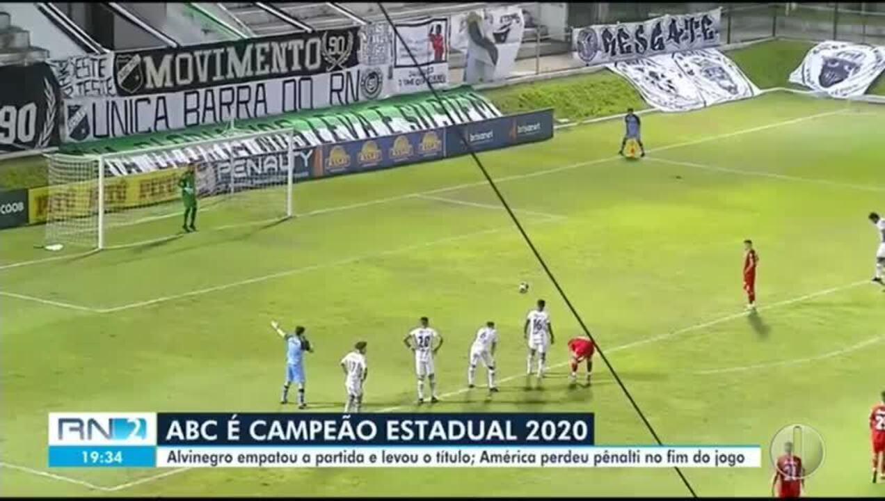 Os gols de ABC 1 x 1 América-RN; ABC é campeão potiguar de 2020