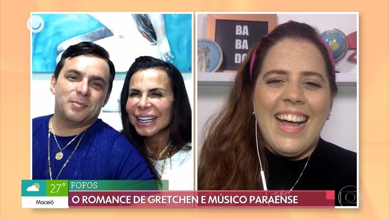Gretchen conta como estão os preparativos para o casamento